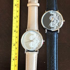 Geneva Watch tan with white Lace look on face